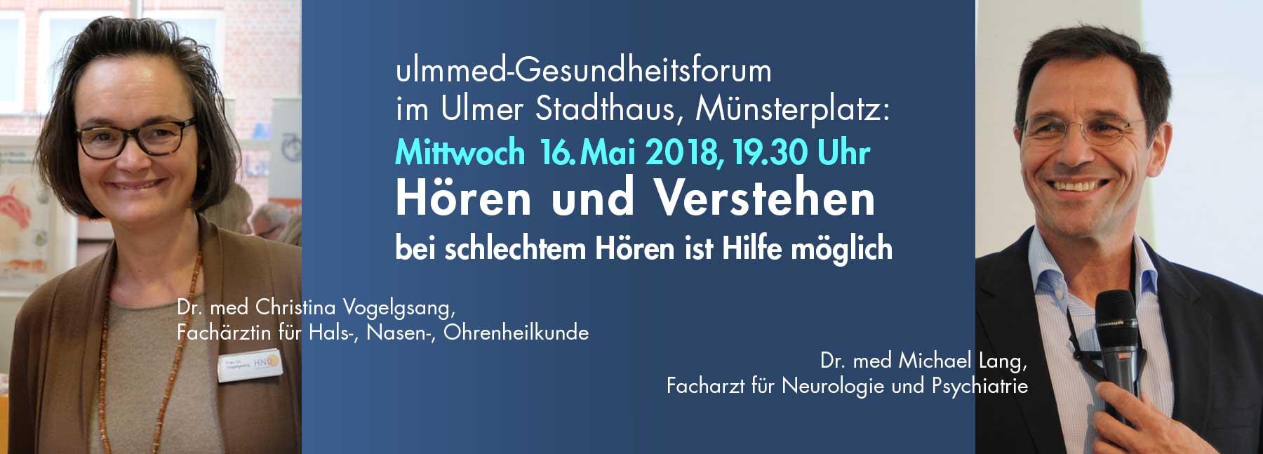 Gesundheitsforum 16.5.2018 Hören und Verstehen